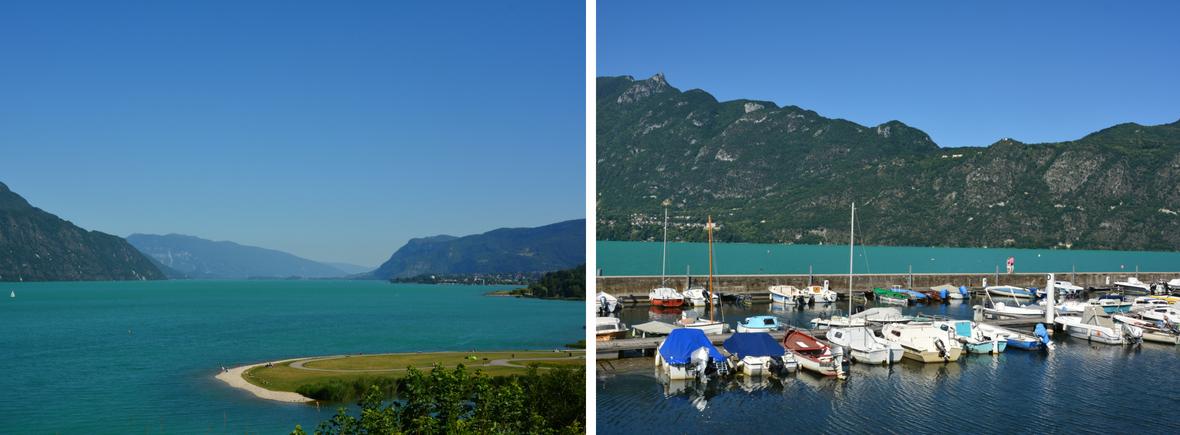 Gîte Etoile Boréale proche Aix les bains - vue du lac du bourget et du petit port